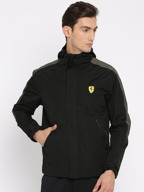 Puma Men Black SF Transform Solid Insulator Sporty Jacket