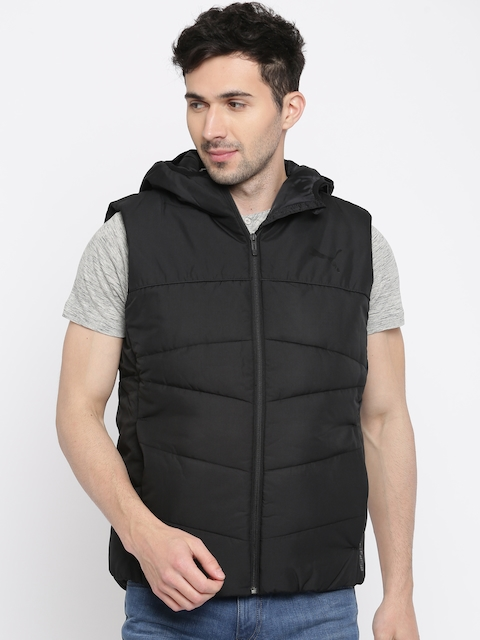 Puma Men Black Solid Padded Jacket