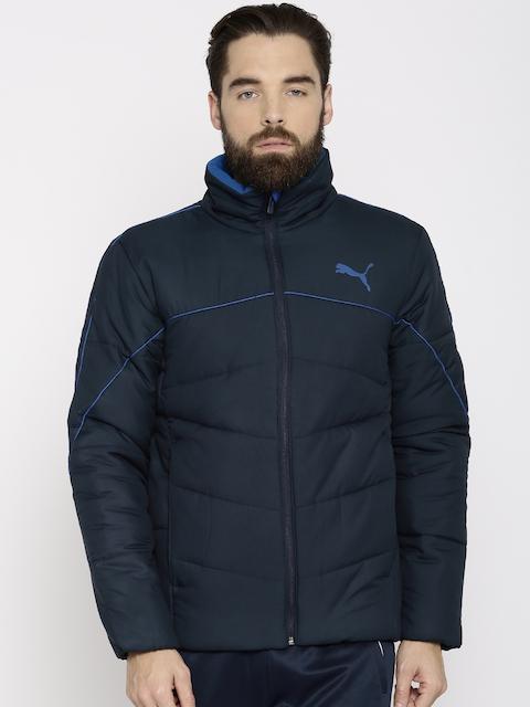 Puma Men Blue Solid Padded ESSENTIALS 400 DOWN Jacket
