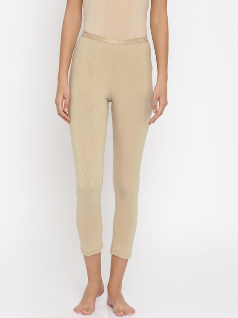Jockey Women Nude-Coloured Thermal Leggings
