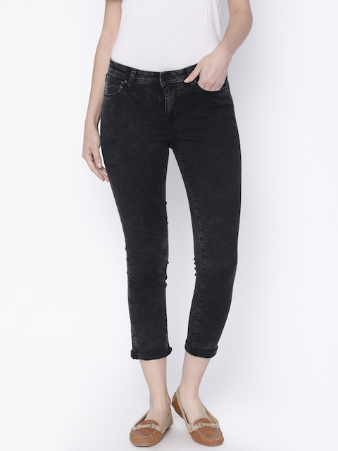 Lee Women Black Skinny Fit Mid-Rise Clean Look Stretchable Jeans