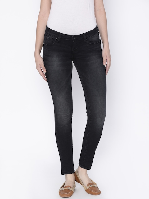 Lee Women Black Maxi Skinny Fit Low-Rise Clean Look Stretchable Jeans