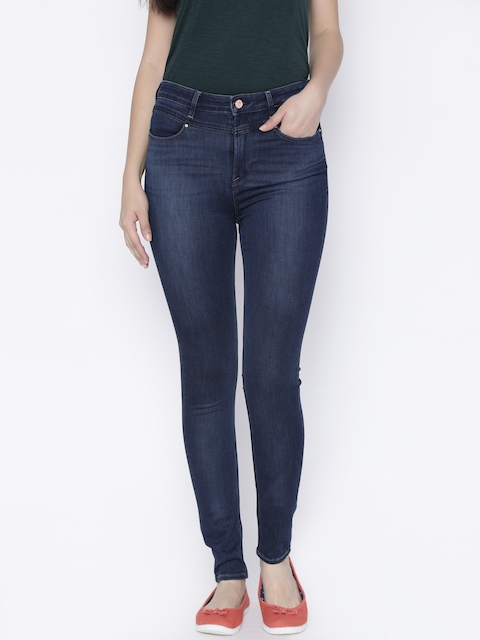 Lee Women Blue Skinny Fit High-Rise Clean Look Stretchable Jeans