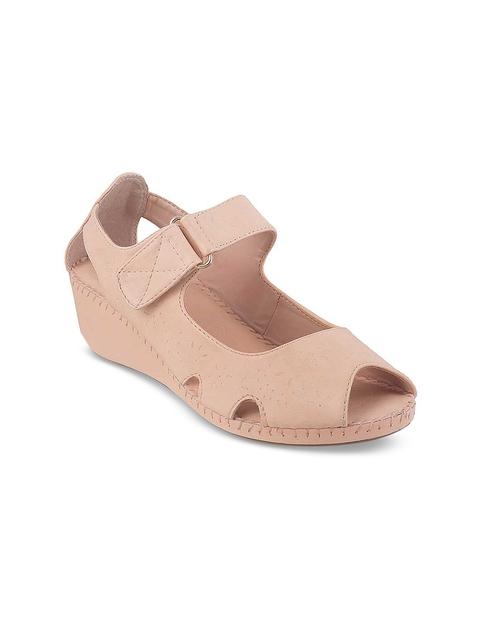 Mochi Women Pink Solid Sandals