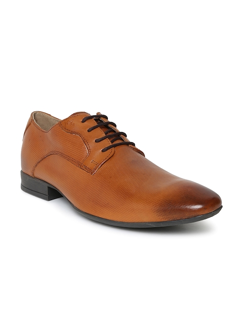 Arrow Men Tan Brown Francis Leather Derbys