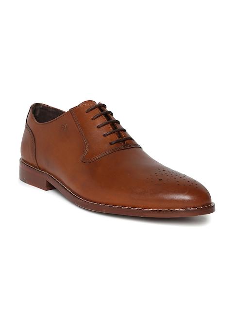 Arrow Men Tan Brown Leather Thomas Formal Oxfords
