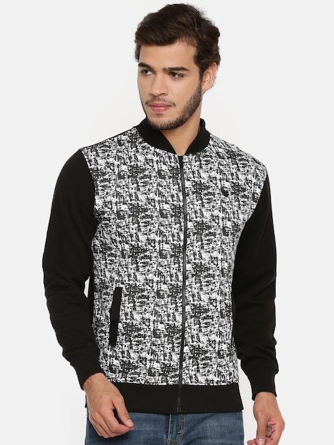 Wrangler Men Black & White Printed Sweatshirt