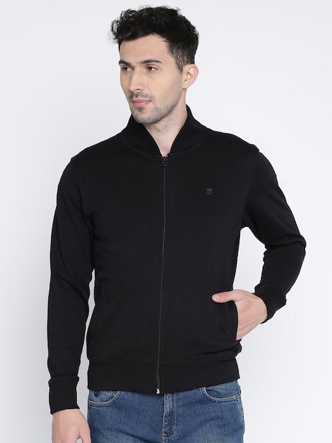 Wrangler Men Black Solid Sweatshirt