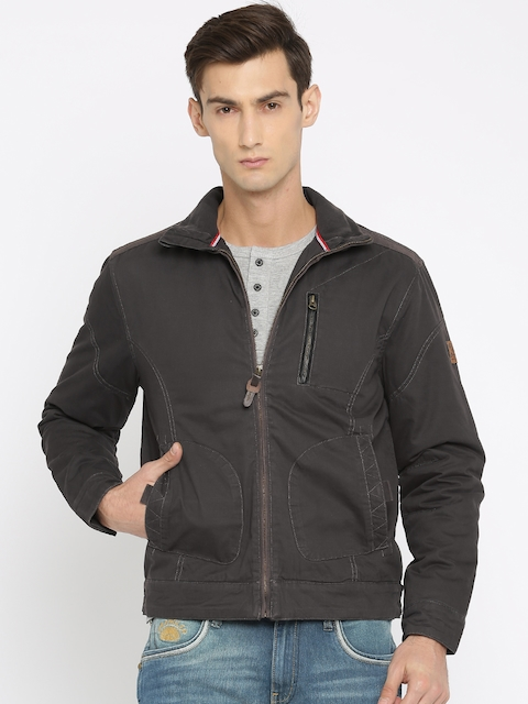 Wrangler Men Brown Solid Padded Jacket  available at myntra for Rs.2118