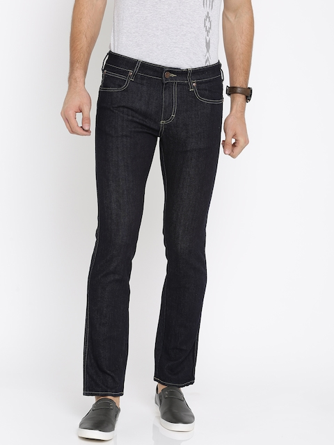 Wrangler Men Blue Skanders Slim Fit Low-Rise Clean Look Stretchable Jeans  available at myntra for Rs.998