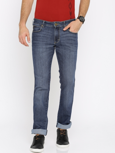 Wrangler Men Blue Slim Fit Low-Rise Clean Look Stretchable Jeans  available at myntra for Rs.1147