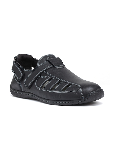 Hush Puppies Men Black Shoe-Style Sandals