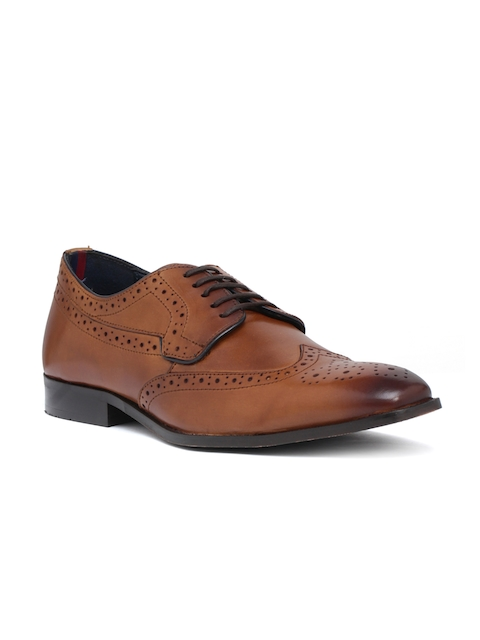 Bata Men Coffee Brown Leather Semiformal Brogues