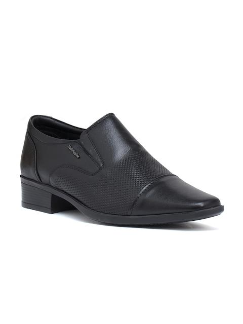 Hush Puppies Men Black Stuart Leather Formal Slip-On Shoes