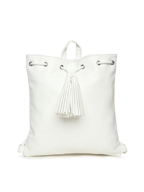 FOREVER 21 White Solid Shoulder Bag cum Backpack
