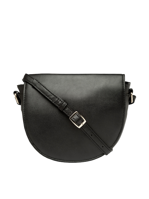 FOREVER 21 Black Solid Sling Bag