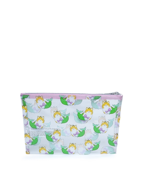FOREVER 21 Women Transparent Printed Travel Pouch