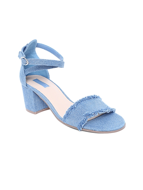 FOREVER 21 Women Blue Solid Sandals