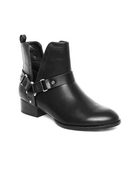 FOREVER 21 Women Black Heeled Boots