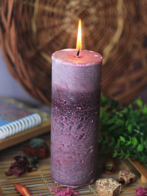 Soulflower Lavender Pillar Big Candle