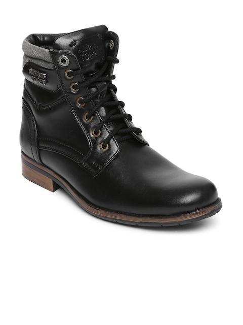 Alberto Torresi Men Black Flat Boots