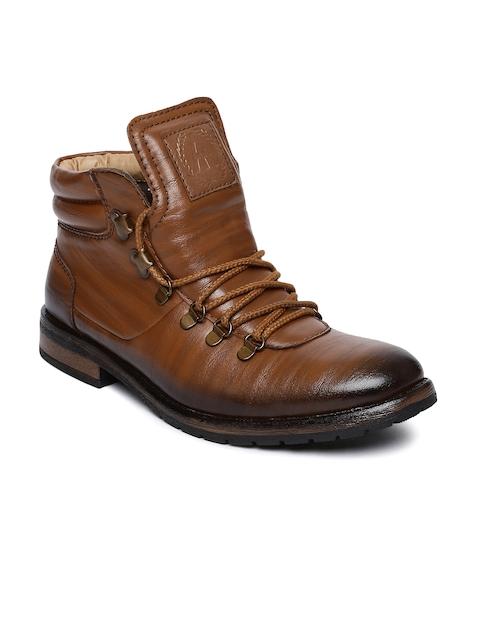 Alberto Torresi Men Tan Brown Flat Boots