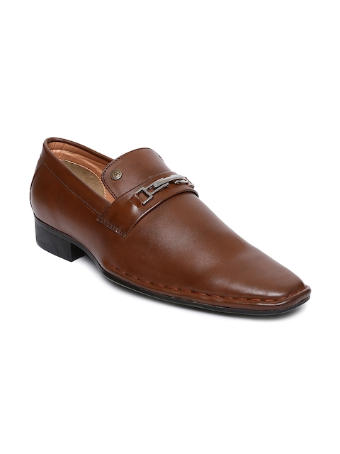 Alberto Torresi Men Tan Brown Semiformal Slip-Ons