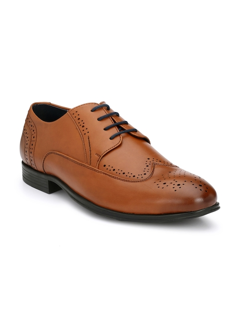 Alberto Torresi Men Tan Brown Formal Brogue Shoes
