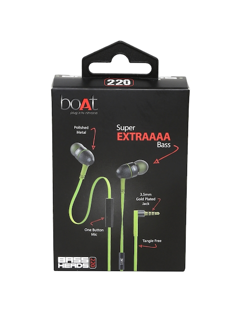 b3278f15da5 boAt Unisex Lime Green BassHeads 220 Earphones Price in India 12 Jul 2019 |  Compare boAt Unisex Lime Green BassHeads 220 Earphones Price Online/Offline,  ...