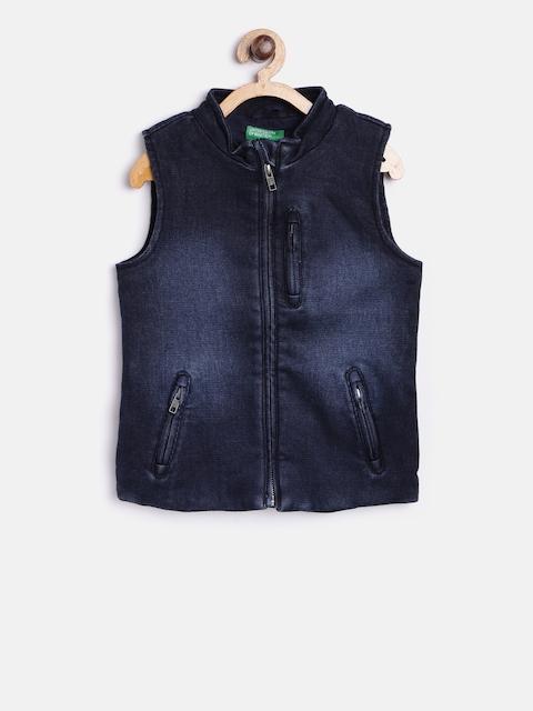 United Colors of Benetton Boys Blue Navy Denim Jacket