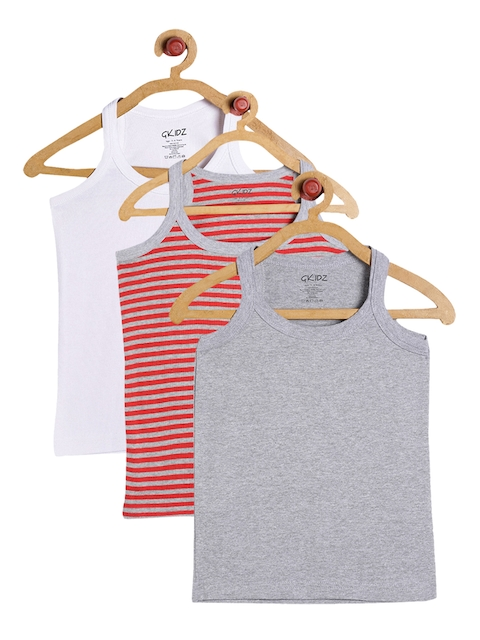 GKIDZ Boys Pack Of 3 Innerwear Vests CMB-2