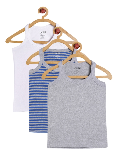 GKIDZ Boys Pack Of 3 Innerwear Vests CMB-4