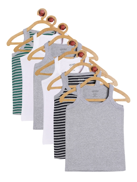 GKIDZ Boys Pack Of 6 Innerwear Vests CMB-6