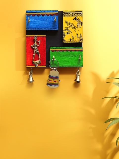 ExclusiveLane Multicoloured Handpainted 4 holder Ker Holder