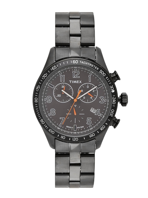Timex Men Grey Chronograph Multifunction Analogue Watch T2P183