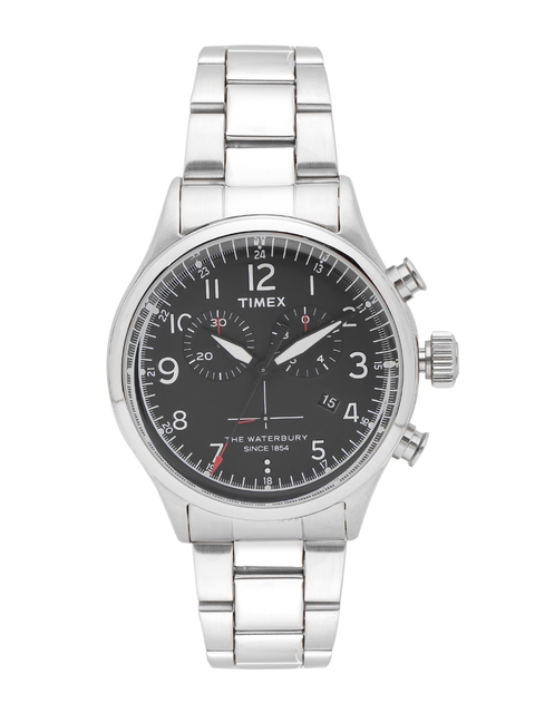 Timex Men Charcoal Grey Chronograph Watch