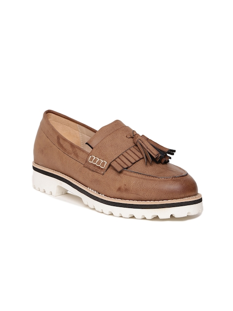 Carlton London Women Brown Tassel Loafers