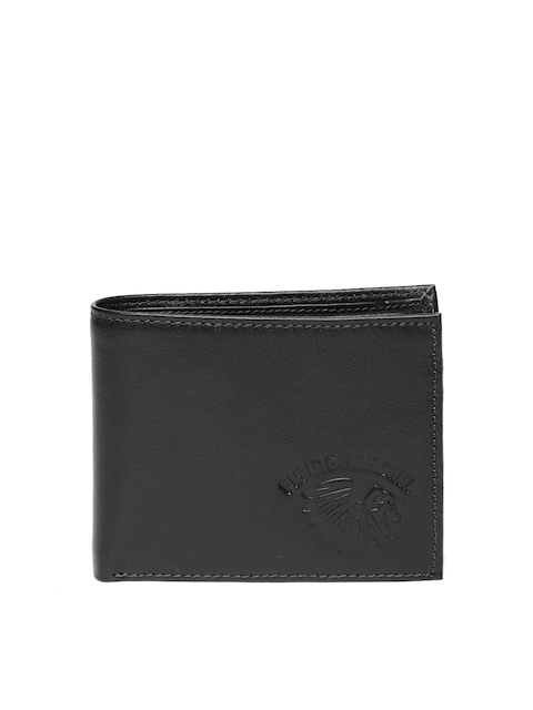 Flying Machine Men Navy Blue Leather Two Fold Wallet