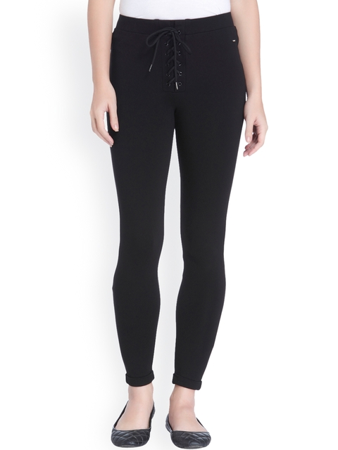 ONLY Women Black Solid Regular Trousers