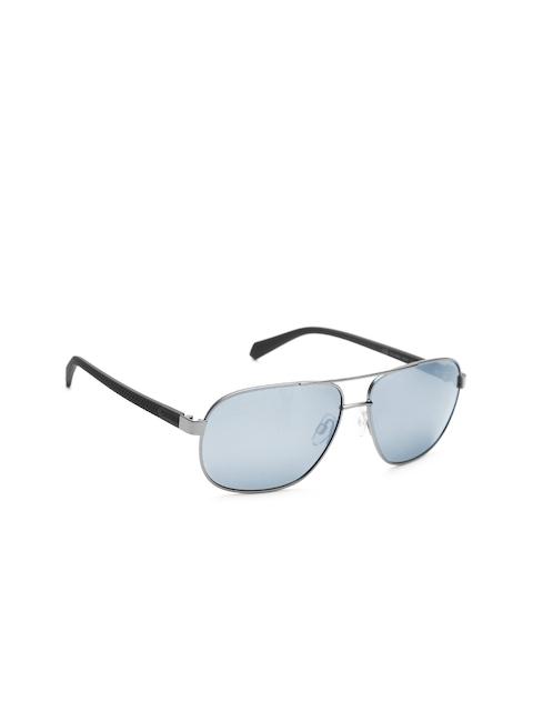 Polaroid Men Polarised Mirrored Rectangle Sunglasses 2059/S R80 60EX