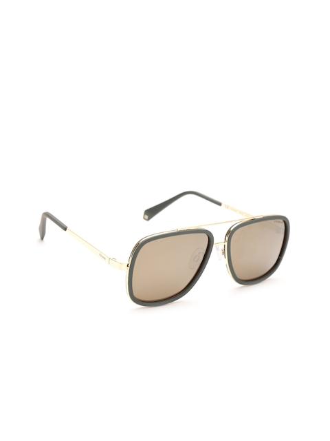 Polaroid Women Mirrored Polarised Rectangle Sunglasses 6033/S 1ED 57LM