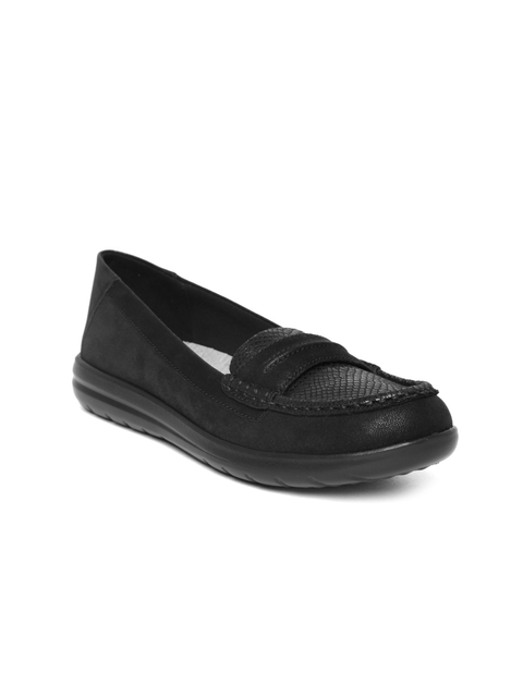 Clarks Women Black Printed Loafers
