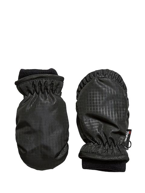 next Boys Black Self-Checked Ski Gloves