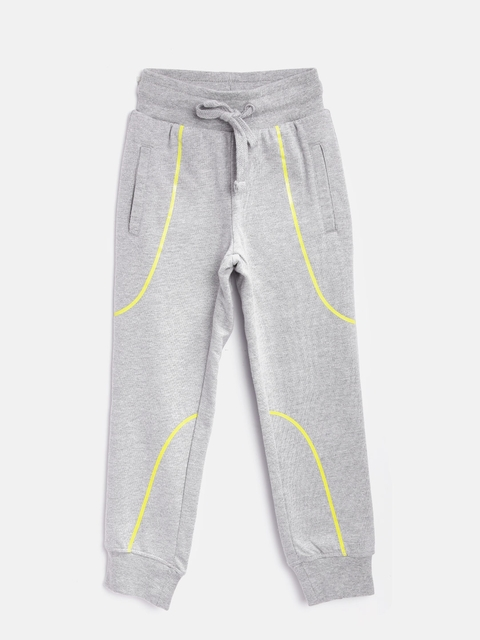 Flying Machine Boys Grey Melange Joggers