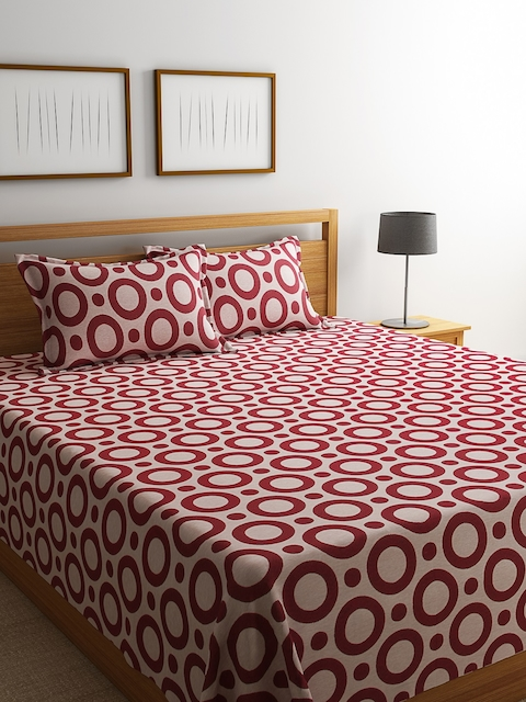 Romee Majestic-14 Polycotton Red Bed Cover