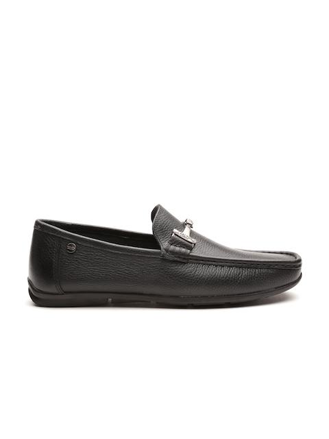 Carlton London Men Black Leather Loafers