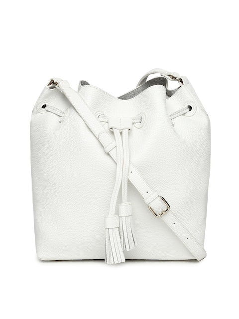 FOREVER 21 White Solid Sling Bag