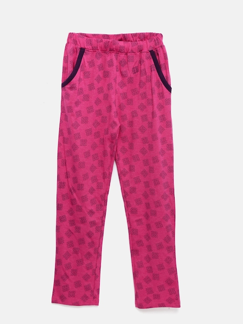 Sweet Dreams Girls Pink Printed Lounge Pants