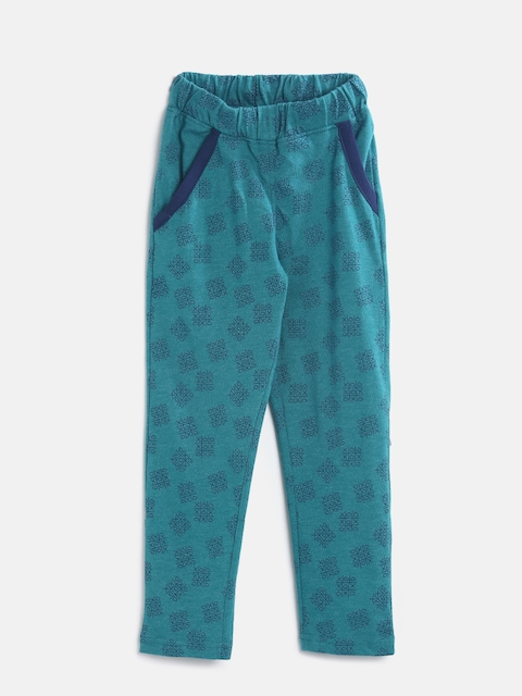 Sweet Dreams Girls Blue Printed Lounge Pants GP-6302G7