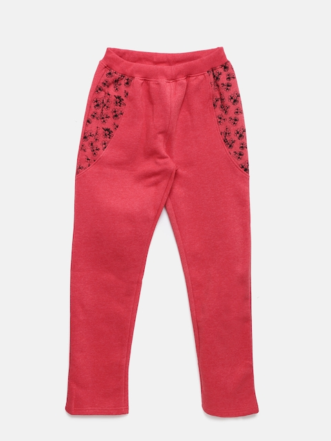 Sweet Dreams Girls Red Printed Lounge Pants